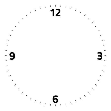 clock face blank on white background - Vector illustration Ilustracje wektorowe