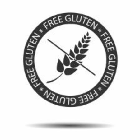 Gluten free vector label icon