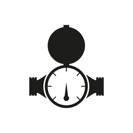 Water Meter Icon, Vector illustration Stock Illustratie