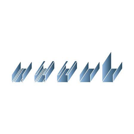 steel profiles icon, Profile for plasterboard, steel profiles for repair, plasterboard fastening