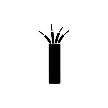 Electric cable icon, wire icon - vector illustration.