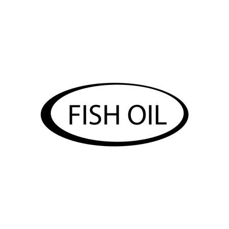 fish oil icon - vector illustration.