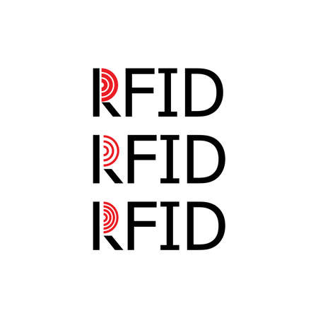 rfid key tag icon, (Radio-frequency identification) key tag.
