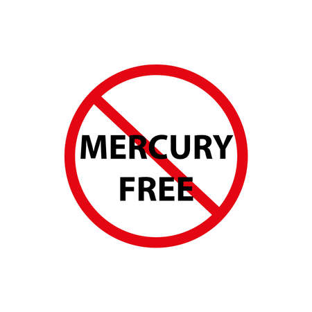 Mercury free icon, vector illustration.