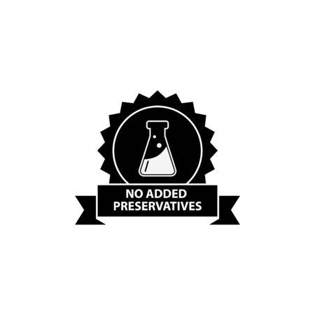 no artificial flavors icon - vector illustration