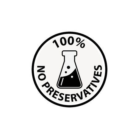sin icono de sabores artificiales - ilustración vectorial
