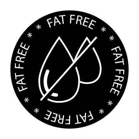 fat free icon, no oil icon