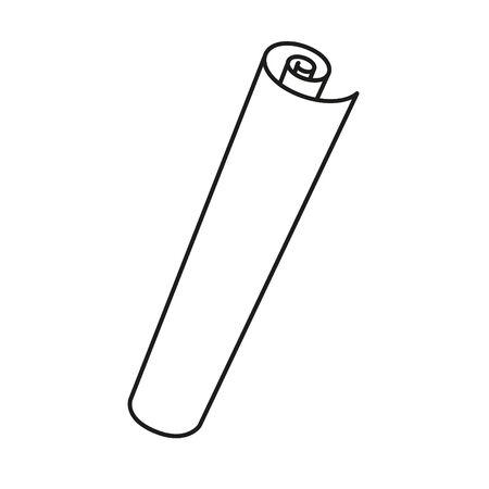 icône de papier présent - illustration vectorielle.