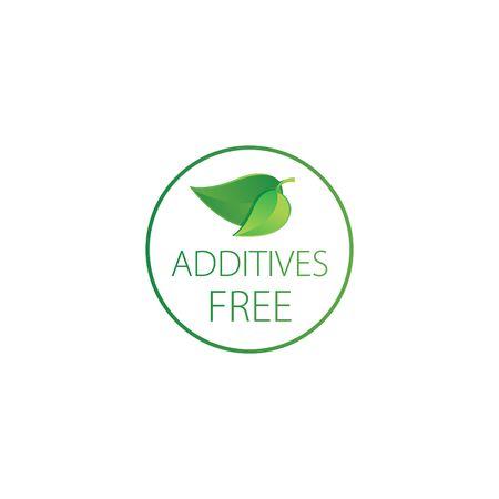 additives free - vector illustration.