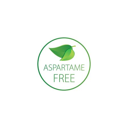 Aspartame free - vector illustration.