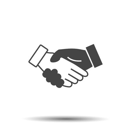 icon handshake business finance agreement handshake
