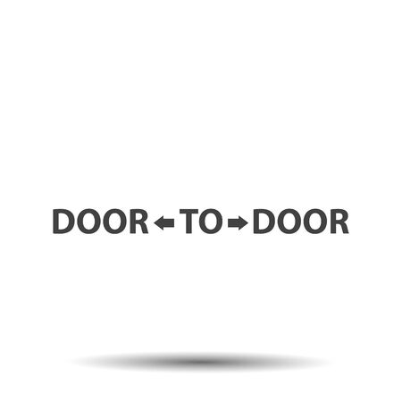 Door to door distribution logo concept icon Illustration