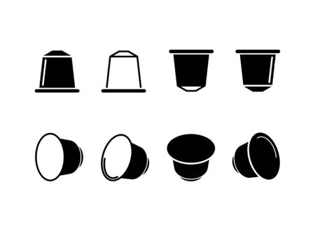 coffee capsule icon - vector illustration.