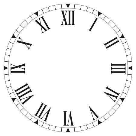 clock face - Vector illustration