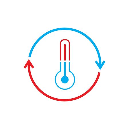 Cooling and heating systems logo - vector illustration.