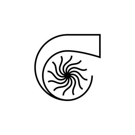 Turbo icon or logo Ilustrace