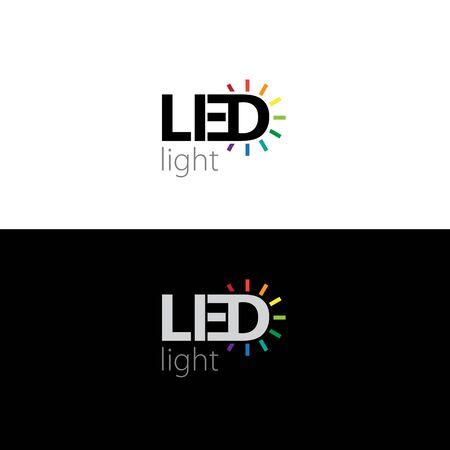 LED logo, vector illustration Ilustrace