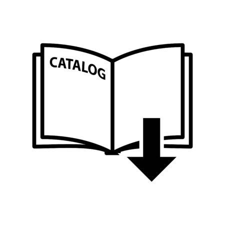 catalog icon, vector illustration