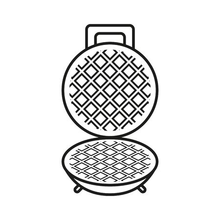 Waffle iron icon Vetores