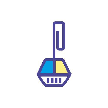 Toilet Rim Block icon Illustration