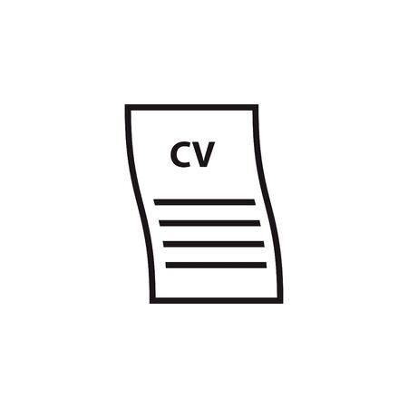 CV line icon