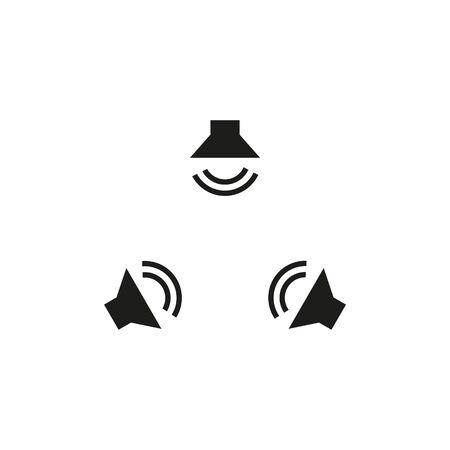 Surround sound symbols icon