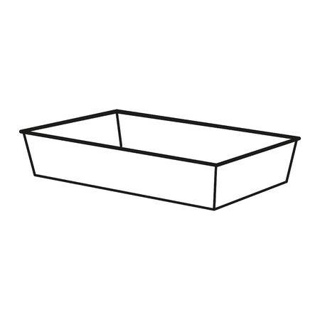 Foam meal box icon Vectores