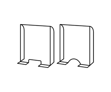 Counter Protector Barrier icon, Cashier Guard icon Ilustrace