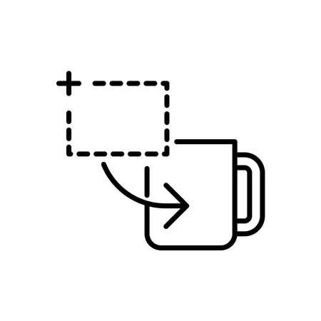 Mug printing icon, vector