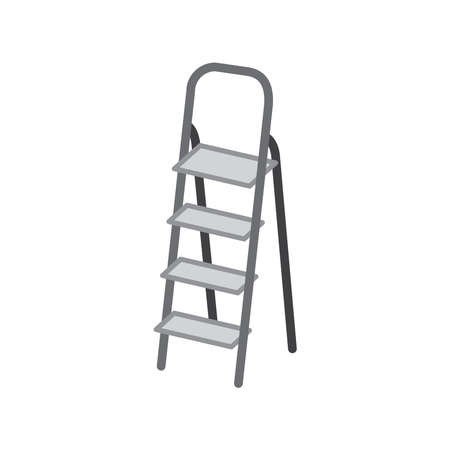 Step ladder icon, vector