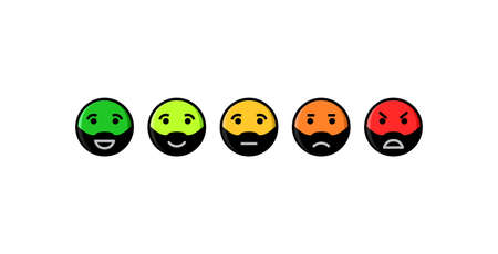 Customer satisfaction icon, vector