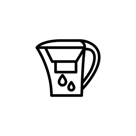 home water filter icon, vector illustration