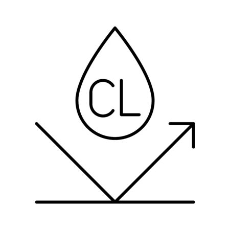 ultra chlorine resistance icon, vector illustration