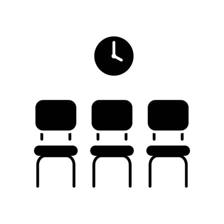 Waiting icon, Waiting room icon, vector