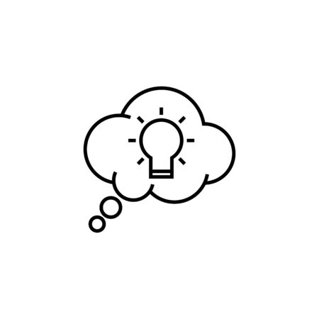 thoughts icon, line vector illustration