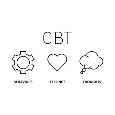 Cognitive behavior therapy, vector illustration
