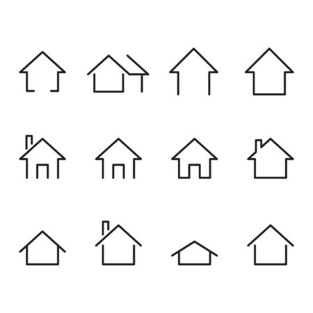 set of home icon, vector illustration