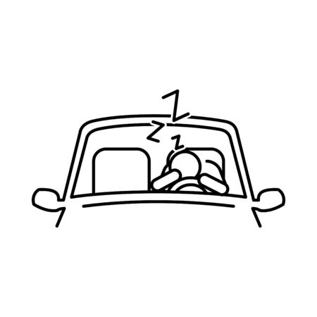 don't drive tired icon, vector