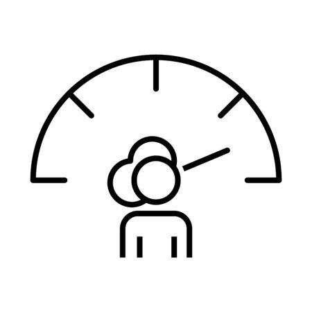 Estrogen meter icon, vector illustration