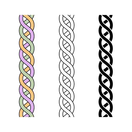 Collagen icon, vector line illustration Çizim