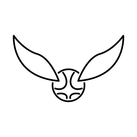 Snitch icon icon, a ball with wing icon, vector Ilustracja