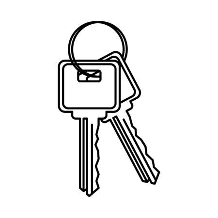 door key icon, vector illustration Çizim