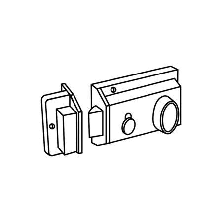 Deadlock Rim lock icon, vector illustration