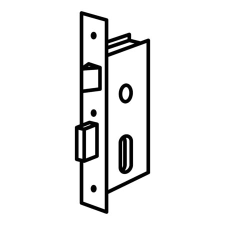 Security Door Lock icon, vector