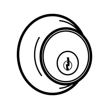 Cylinder Deadbolt icon, vector illustration