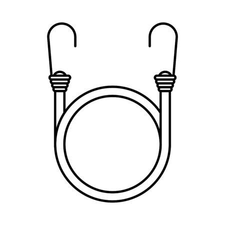 Cord with Hooks icon, vector illustration Vector Illustratie