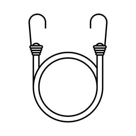 Cord with Hooks icon, vector illustration Vector Illustration