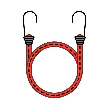 Cord with Hooks icon, vector illustration Illustration