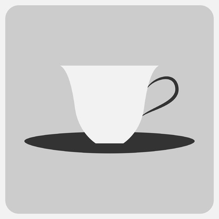 pleasantness: Flat icon-coffee cup