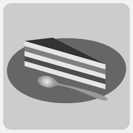 indulgence: Flat icon-cake Illustration